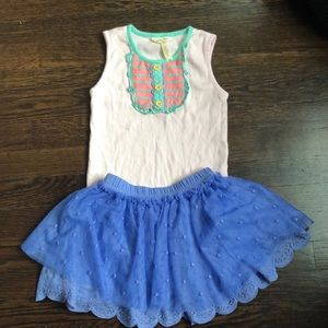 Matilda Jane tank top and skirt